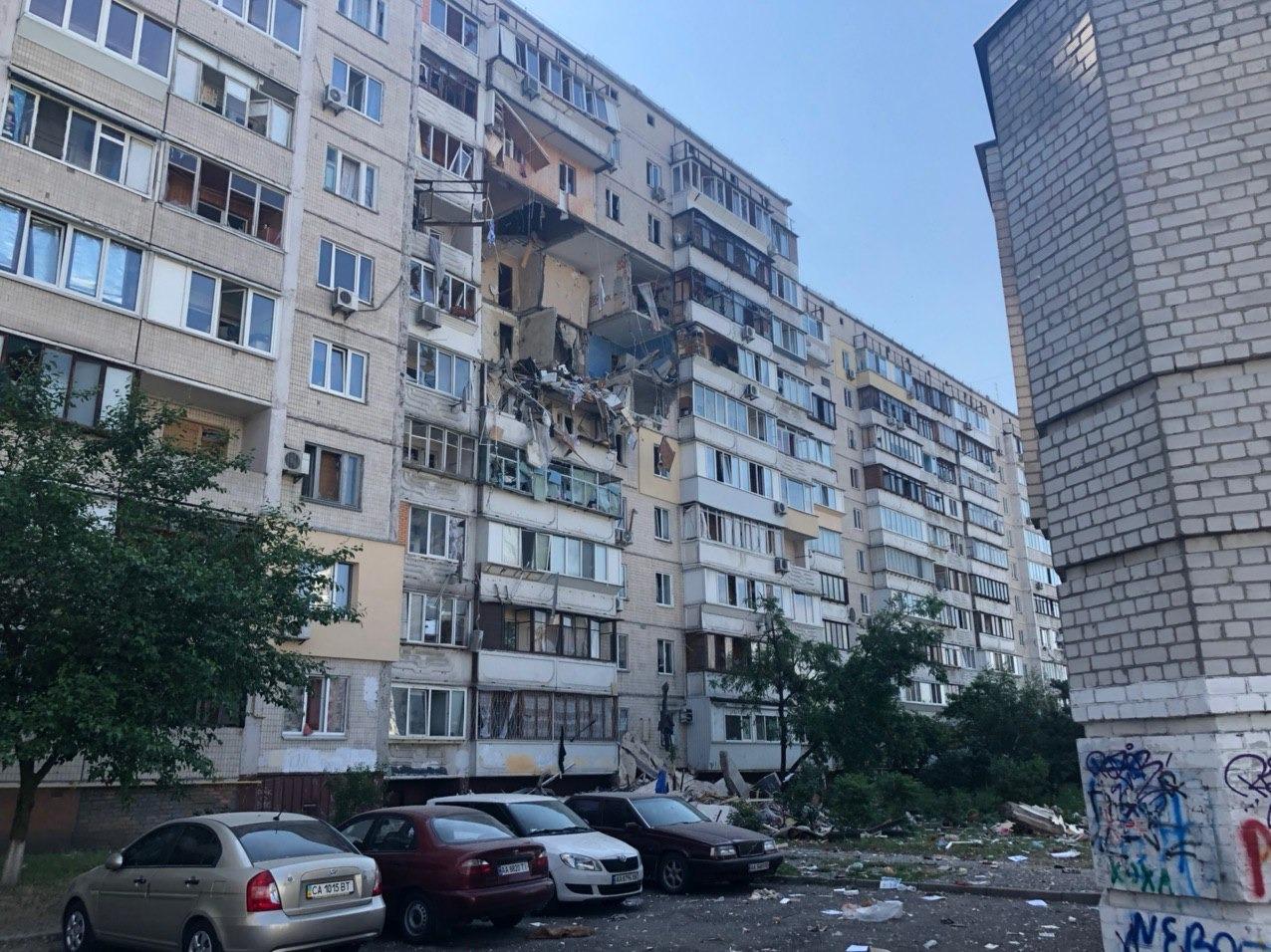 Взрыв дома в Киеве на Позняках
