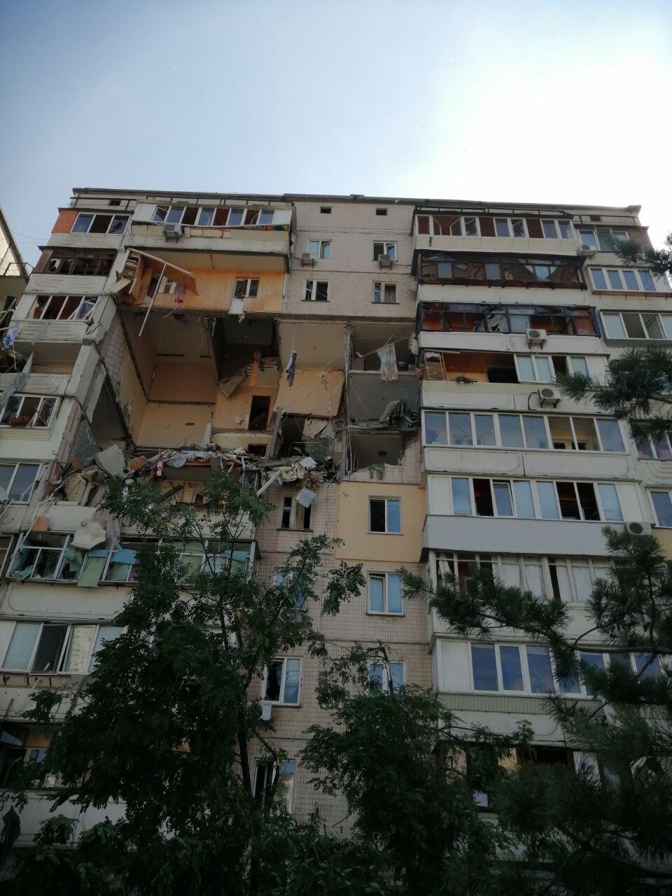 Вибух будинку в Києві на Позняках